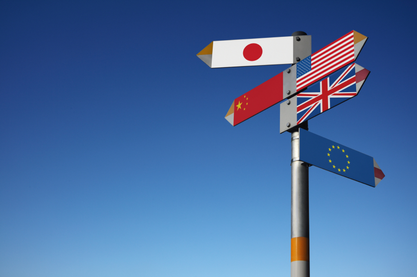 International flag signpost