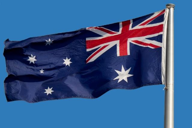 Australian Flag Blue background