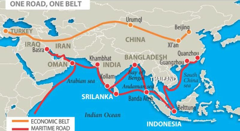 One road one belt map