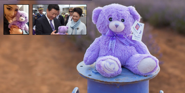 Chinese tourism Bridestowe purple Bear Australia